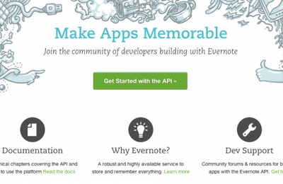 Getting started with the Evernote API