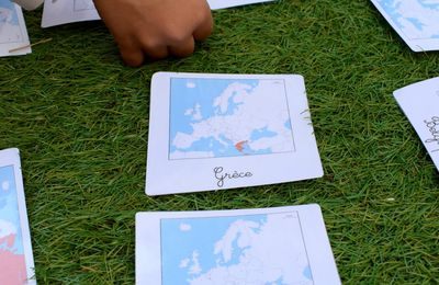 Cartes nomenclature Montessori - Les pays d'Europe