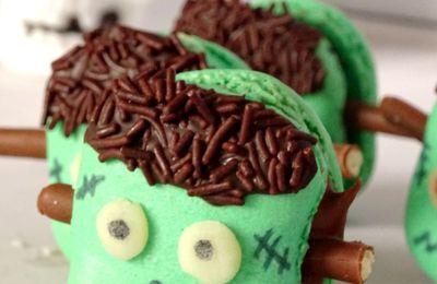 """Macarons Petits Monstres """"Frankenstein"""" {Halloween}"""