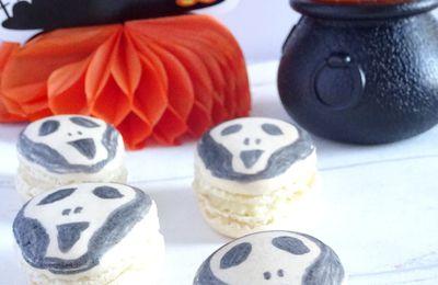 Macarons Fantômes / Masque de Scream {Halloween}