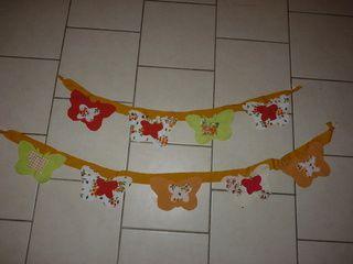 Utiliser des chutes de tissus : Des guirlandes de papillons.