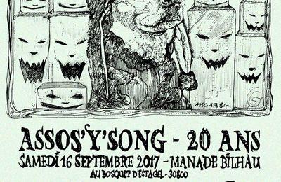 Samedi 16 septembre à la Manade Bilhau (30) : L'assos'Y'Song fait ses 20 ans !