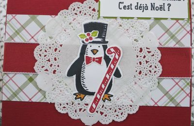 carte pop up paysage de noël