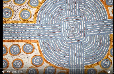 Le pointillisme dans l'art aborigène (ou dot-painting)