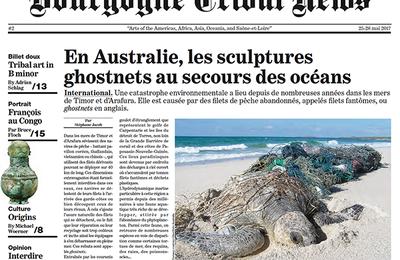 Un article sur les sculptures en ghostnet dans le Bourgogne Tribal News