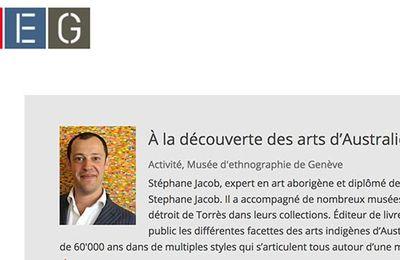 Musée d'ethnographie de Genève (MEG) : Conférence de Stéphane Jacob