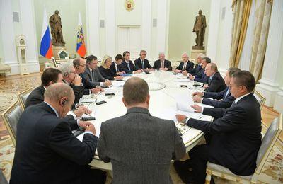 Vladimir Poutine a rencontré la communauté d'affaires franco-russe