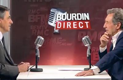 François Fillon invité de Jean-Jacques Bourdin sur BFM TV et RMC
