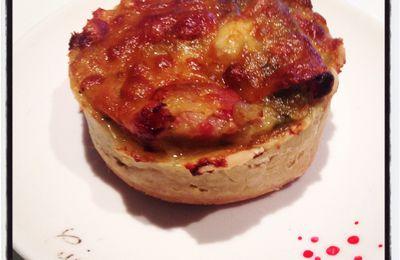 Mes petites tartelettes courgettes, lardons et mozzarella... Une belle association !