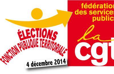 ELECTIONS PROFESSIONNELLES du 4 décembre 2014