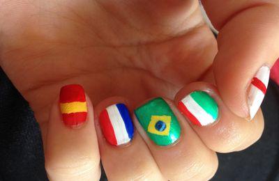 Nail art Coupe du Monde