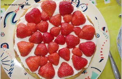 Moelleux fraises amandes