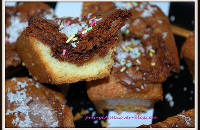 Mini cakes marbrés choco/noix de coco