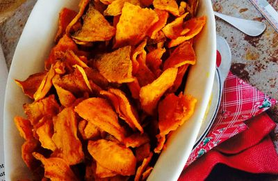 Chips de patate douce au curry