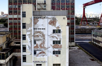 VHILS new show in Lisbon, Portugal