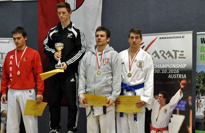 Daniel Wrabec belegt Platz 3 beim Internationalen Karate-Turnier Vienna Open am 10.Oktober 2015