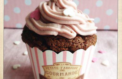 Cupcakes chocolat framboise.