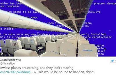 On pourra bientôt voler dans un avion transparent