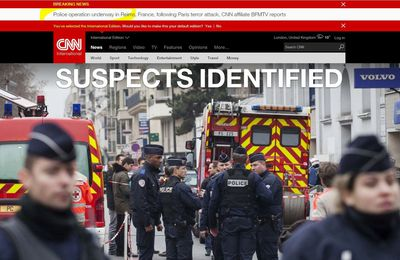 "CNN claims ""SUSPECTS IDENTIFIED"" : Police operation underway in Reims, France, following Paris terror attack"