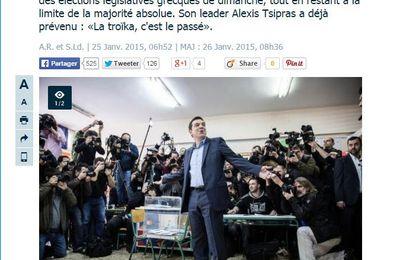 Zone EURO : GRECE, Que va faire Alexis Tsipras de cette victoire ? FRANCE, Que va faire Hollande de celle-ci ?