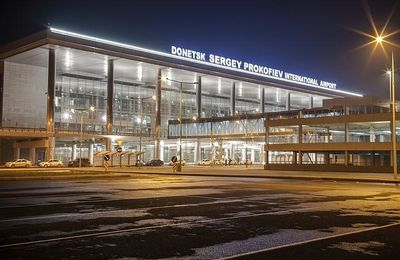 JUST two years after being built, Ukraine's Donetsk airport lies in ruins