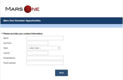 Mars One Volunteer Opportunities : Are you interested in donating some of your time and skills ?