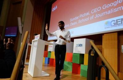Sundar Pichai PDG de Google, fait le Show SCIENCES PO - Paris