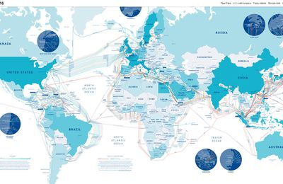 Global Internet map / Submarine Cable Map 2016