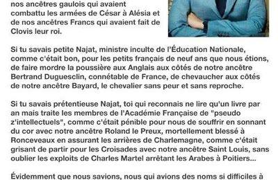 Le Web et Internet :  « Si tu savais Najat » : une fausse lettre de Jean d'Ormesson relayée par l'extrême droite