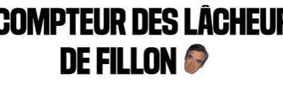Le compteur des lacheurs de FILLON : par LIBERATION