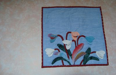 Finitions origami et broderie