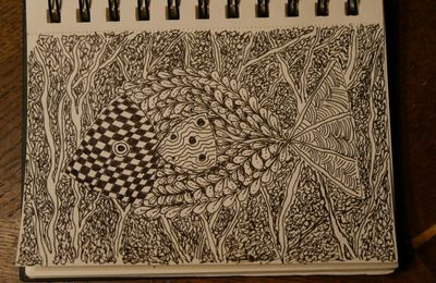 ...zentangle , fish...