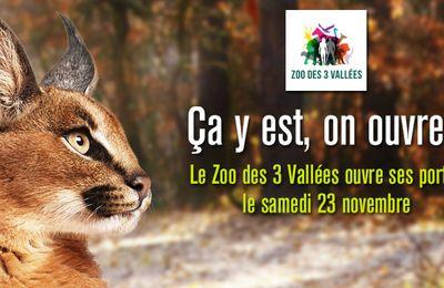 Le zoo des 3 Vallées ouvre ses portes le samedi 23 novembre!