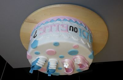 Gâteau baby shower.