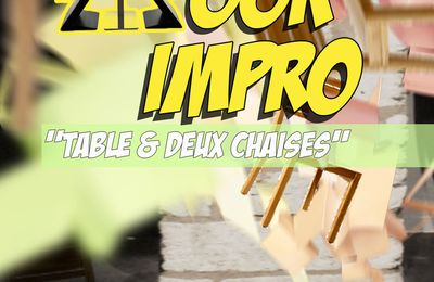 WOOK'IMPRO: Table & Chaises