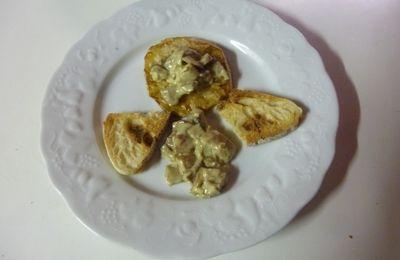 Steak de céleri rave aux champignons d'automne
