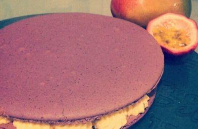 macaron mangue passion glacé ( avec ou sans thermomix )
