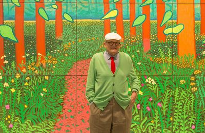 David Hockney offre une toile au Centre Georges Pompidou. The Arrival of spring in Woldgate, East Yorkshire.