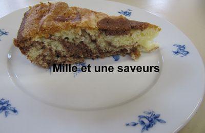 Gâteau marbré avec blanc d'oeuf