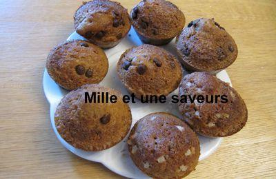 Muffin perles de sucre, muffin pépites de chocolat sans gluten