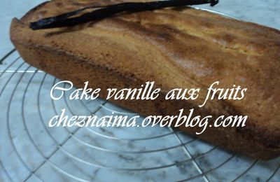Cake vanille aux fruits