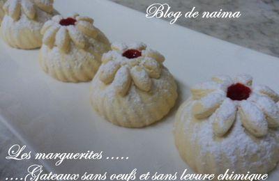 Les marguerites ( gâteaux sans oeufs et sans levure chimique)