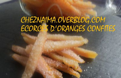 Ecorces d'oranges confites home made....