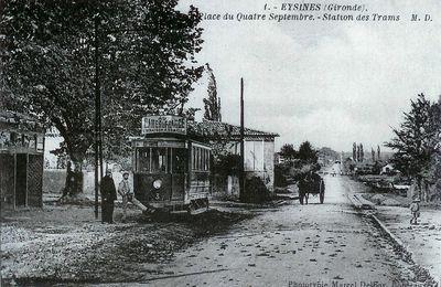 Le tramway à Eysines en juin 1893