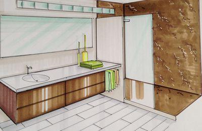 Salle d'eau marron