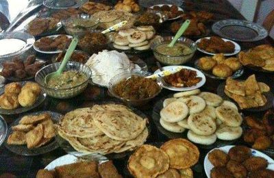Table Full of Pakistani Dishes
