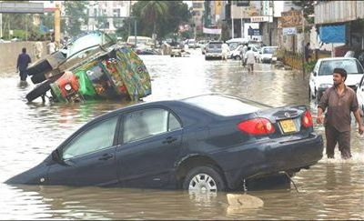 Rain Destructions in Karachi