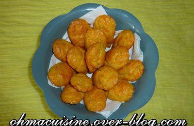 Madeleines carotte gingembre