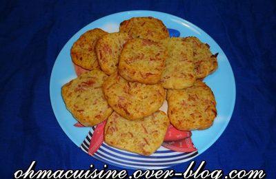 """Biscuits apéro """"Goutzy"""" (bacon et comté)"""