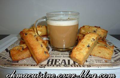 Cookies stick chocolat blanc et cranberries